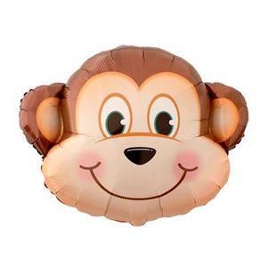 Balão Metalizado Safari Macaco 85 x 75cm