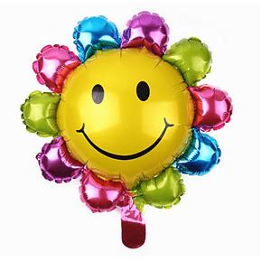 Balão Metalizado Flor Sorrindo 40 x 37,5cm