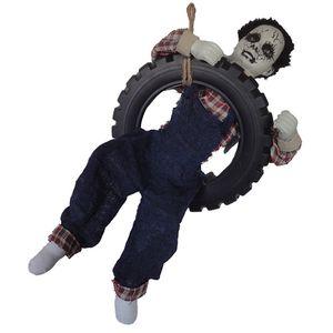Fantasma Decorativo Pendurado no Pneu com Movimento e Som 80cm