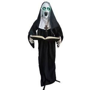 Freira em Pé Halloween com Luz e Som 165cm
