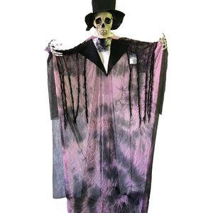 Noivo Cadáver para Decoração de Halloween em Pé com Som e Movimento 180cm