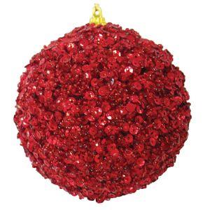 Bola Decorada Vermelha 8cm