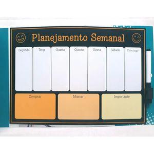 Ímã de Geladeira Planejamento Semanal Mensal com Caneta