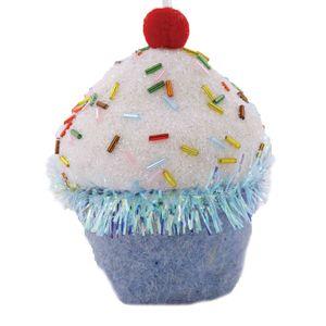 Ornamento Cupcake Azul 10x8cm