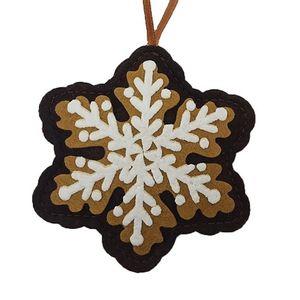 Ornamento Floco de Neve: 9,5x8cm