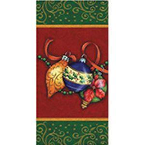Lenço Importado Decorativo 33 x 33cm 3 Folhas com 10 Unidades Enfeites Natalinos