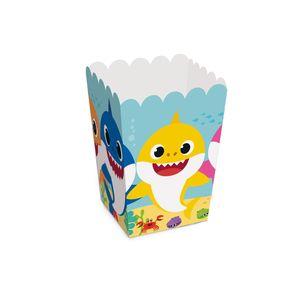 Caixa de Pipoca Baby Shark 5x5x9cm 10 unidades