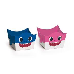 Porta Forminha Baby Shark 24 unidades