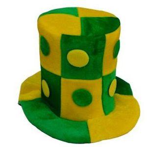 Chapéu Cartona Verde e Amarelo Brasil Tamanho Único