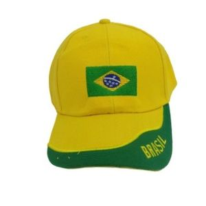 Boné Amarelo e Verde Bandeira do Brasil Tamanho Único