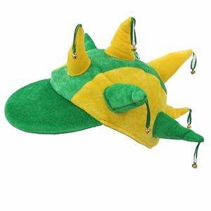 Chapéu com Guizos Verde e Amarelo Brasil Tamanho Único