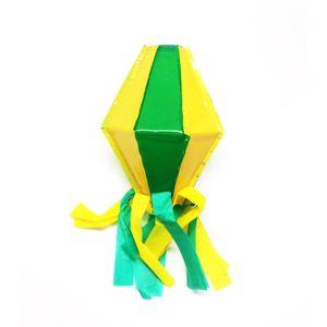 Balão Plástico Verde e Amarelo 20cm
