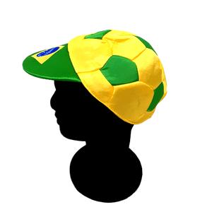 Boné de Cetim Verde e Amarelo Brasil Tamanho Único