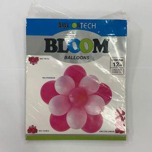 "Balloontech  10"" C/12 Bloom Balloon Rosa"
