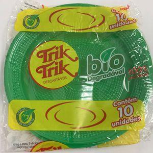 Prato Bolo Bio 15CM C/10 Verde Escuro - 7115