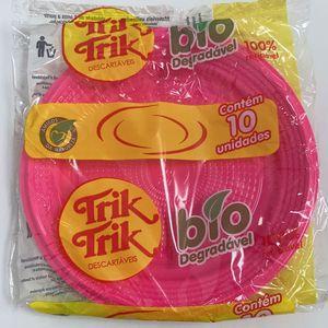 Prato Bolo Bio 15CM C/10 Pink - 7111
