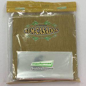 Kit Embalagem P/B Casados 175 Com 40 Unidades Crepom Dourado