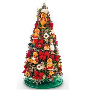 Kit Decoração Árvore Ginger Cozinheiro (PARA ÁRVORE DE 2,10m)